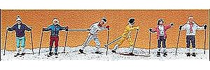 Preiser Cross-Country Skiers (6) Model Railroad Figures HO Scale #10312