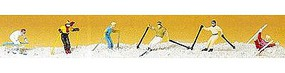 Preiser Downhill Skiers (6) Model Railroad Figures HO Scale #10313