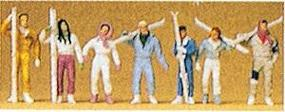 Preiser Skiers (7) Model Railroad Figures HO Scale #10316