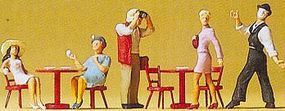 Preiser People Working Pantomime In Cafe (5) Model Railroad Figures HO Scale #10348