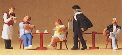 waiter artist HO Scale Tourists