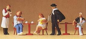 Preiser Spectators Tourists, Waiter & Artist (5) Model Railroad Figures HO Scale #10368