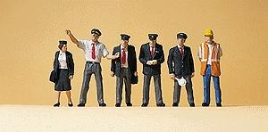 Preiser HO #10452 US Railroad Transition-Era Passenger Train Crew
