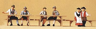 Preiser Oktoberfest Goers #2 Seated At Tables (6) Model Railroad Figures HO Scale #10449