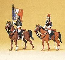 Preiser Police Mounted On Horseback Republican Guards Model Railroad Figures HO Scale #10460