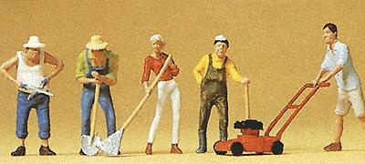 Preiser People Working Gardeners (5) Model Railroad Figures HO Scale #10463