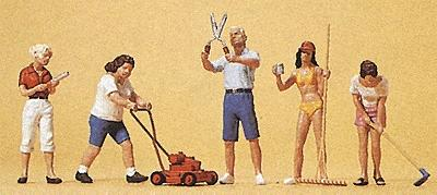 Preiser People Working Hobby Gardeners (5) Model Railroad Figures HO Scale #10464