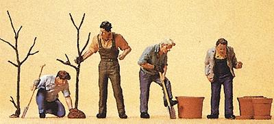 Preiser People Working Men Planting Trees (4) Model Railroad Figures HO Scale #10466