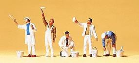 Preiser People Working Paint Crew (5) Model Railroad Figures HO Scale #10477