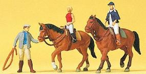 Preiser Sports & Recreation At The Riding School #1 Model Railroad Figures HO Scale #10502