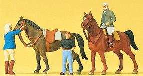 Preiser Sports & Recreation At The Riding School #2 Model Railroad Figures HO Scale #10503