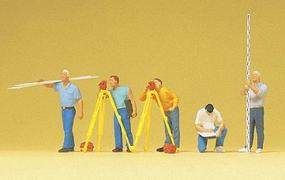 Preiser Working People Surveyors (5) Model Railroad Figures HO Scale #10512