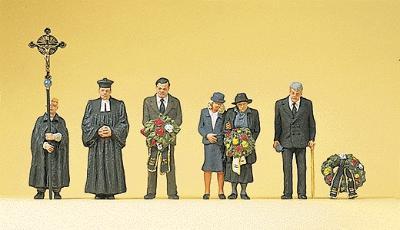 Preiser HO #10520 Funeral Catholic Figures