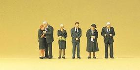 Preiser Funeral Attendees (6) Model Railroad Figures HO Scale #10521