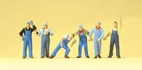 Preiser US Railway Workers Model Railroad Figures HO Scale #10547