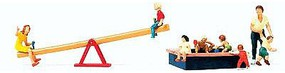 Preiser Pedestrians - Children at Play (8) Model Railroad Figures HO Scale #10587