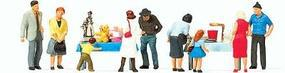 Preiser Pedestrians - Flea Market (9) Model Railroad Figures HO Scale #10595
