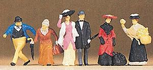 Preiser 1900s Travelers & Passers-By Model Railroad Figures HO Scale #12138