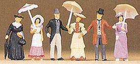 Preiser 1900s Passers-By Model Railroad Figures HO Scale #12139