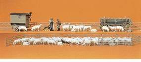 Preiser Working People - Shepherd with Flock & Accessories Model Railroad Figures HO Scale #13003
