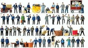 Preiser Working People - Assorted Working People Model Railroad Figures HO Scale #13004