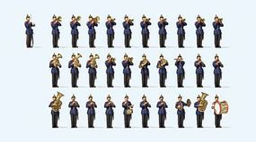 Preiser Wurttembergian Military Band - Circa 1900 (31) Model Railroad Figures HO Scale #13255