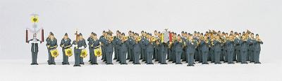 Preiser Kg Air Force Military Band -- HO Scale Model Railroad Figure -- #13256