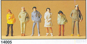 Preiser Pedestrians - Youths in Winter Clothes HO Scale Model Railroad Figures #14005