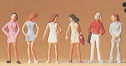 Preiser Pedestrians - Standing Teenage Girls HO Scale Model Railroad Figures #14006