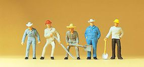 Preiser Railroad Personnel - Track Workers HO Scale Model Railroad Figures #14017