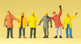Preiser Working People - Workers In Protective Clothing Model Railroad Figures HO Scale #14034