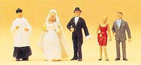 Preiser Wedding Participants Catholic Model Railroad Figures HO Scale #14058