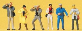 Preiser Working People Standing Photographers (6) Model Railroad Figures HO Scale #14080