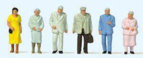 Preiser Senior Citizens Passengers Standing (6) HO Scale Model Railroad Figure #14116