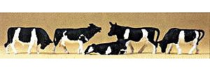 Preiser Animals Cows (5) Model Railroad Figures HO Scale #14155