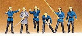 Preiser Firemen #4 Model Railroad Figures HO Scale #14203