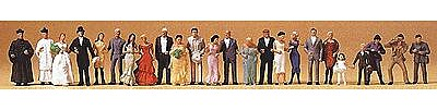 Preiser Wedding Participants - Wedding Guests Model Railroad Figures HO Scale #14415