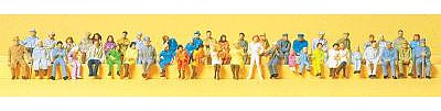 Preiser Assorted Seated People (48) Model Railroad Figures HO Scale #14416