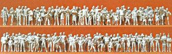 Preiser Kg Unpainted Passers-by/Spectators -- Model Railroad Figures -- HO Scale -- #16343