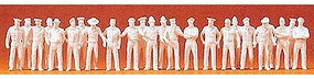 Preiser Unpainted Uniformed People Combination Kit Model Railroad Figures HO Scale #16345