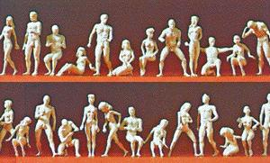 Preiser Kg Unpainted Figure Set - Adam & Eve Combination Kit -- Model Railroad Figures -- HO Scale -- #16400