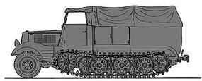 Preiser German Army WWII SdKfz 11 Medium Half-Track HO Scale Model Railroad Vehicle Kit #16538