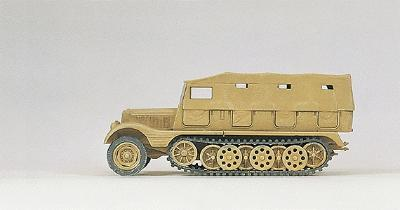 Preiser Kg SdKfz 11 Series Medium Half-Track Closed Version (Plastic Kit) -- HO Scale Model -- #16562