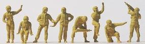 Preiser Modern US Army Unpainted Tank Crew (8) Model Railroad Figures HO Scale #16567