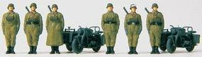 Preiser Motorcycle Troops 2 Zundapp S 750 Cycles w/Sidecar (Plastic Kit) HO Scale Model #16571