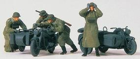Preiser 2 Zundapp KS 750 Cycles w/Sidecars Motorcycle Troops (Plastic Kit) HO Scale Models #16580