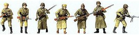 Preiser Attacking Infantrymen Winter Uniform 1941-45 (12) Model Railroad Figures HO Scale #16600
