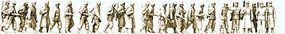 Preiser WWII Germany Unpainted Walking Infantry in Winter Model Railroad Figures HO Scale #16609