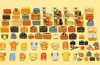 Preiser Luggage Assortment 90 Pieces Model Railroad Building Accessory Kit HO Scale #17005