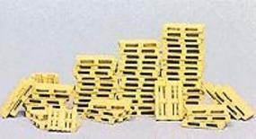 Preiser Pallets - pkg(60) - HO-Scale HO Scale Model Railroad Building Accessory #17104